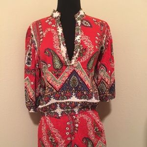 Angie Red Floral Mini Dress Size XS